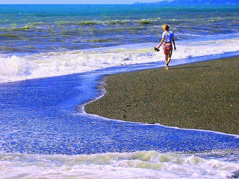 пляж возле анапки в анапе