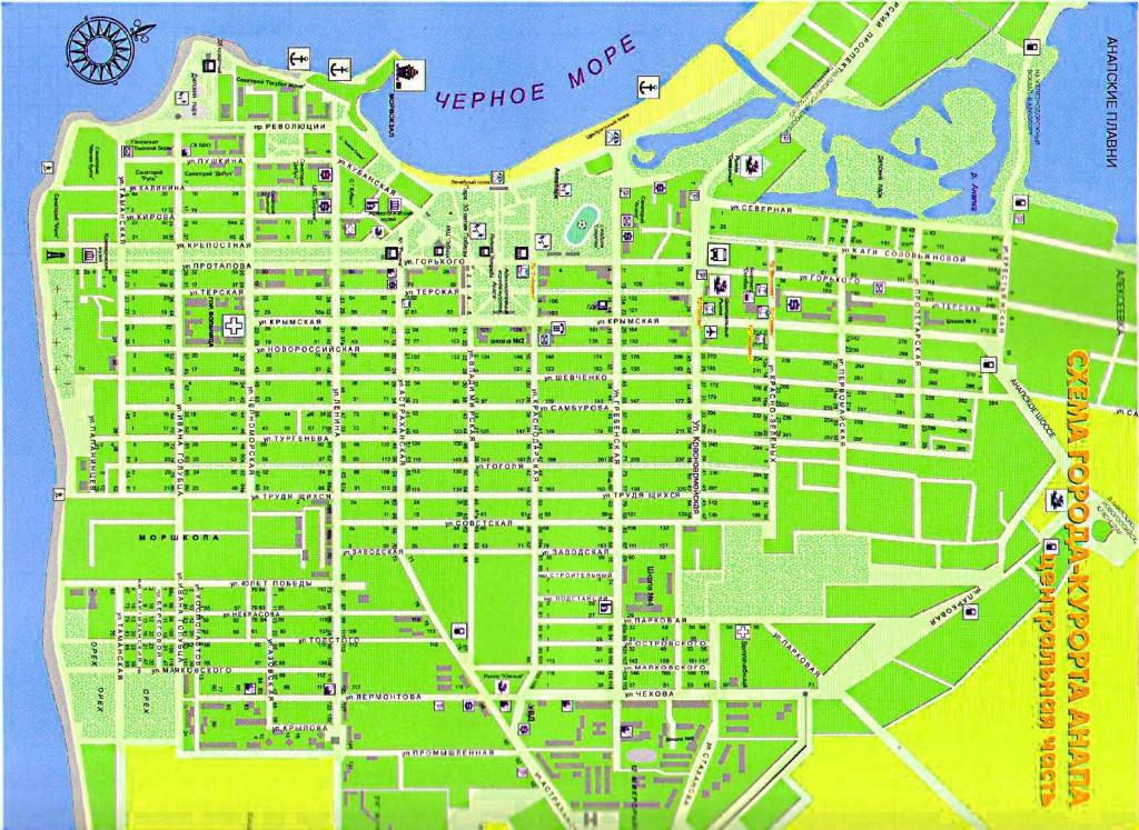 карта с улицами и домами соответственно