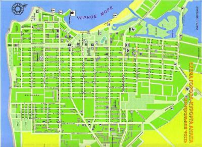 карта анапы с улицами и домами подробно